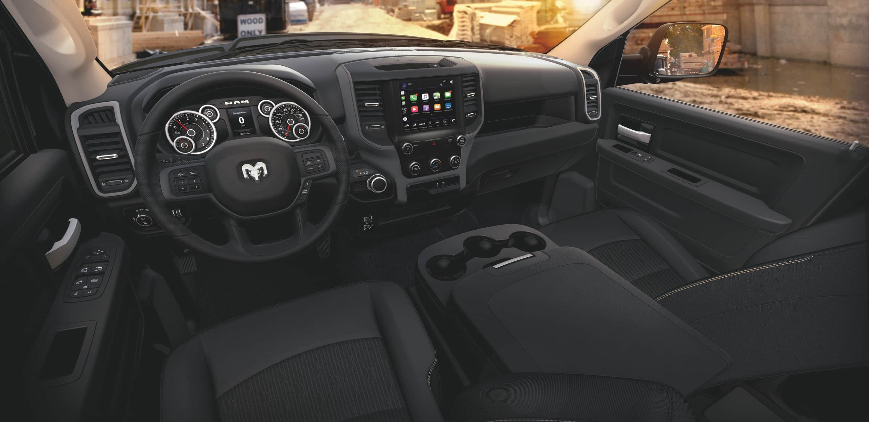 interior of a 2020 ram 2500