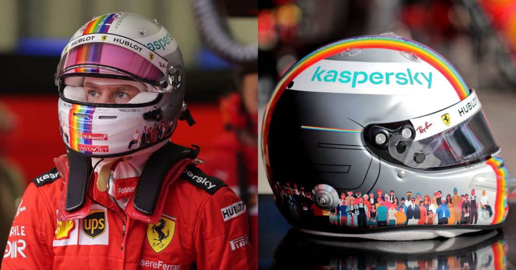 Vettel Will Auction Off His Special Together As One Helmet For Charity