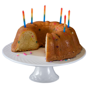 celebration birthday bundt cake