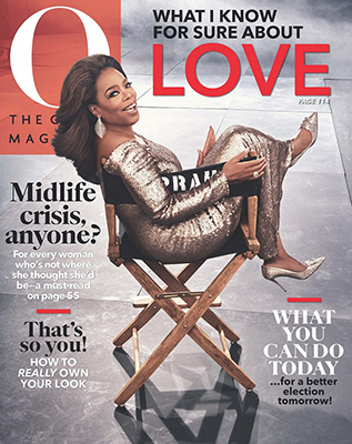 O, The Magazine January 2020 Cover