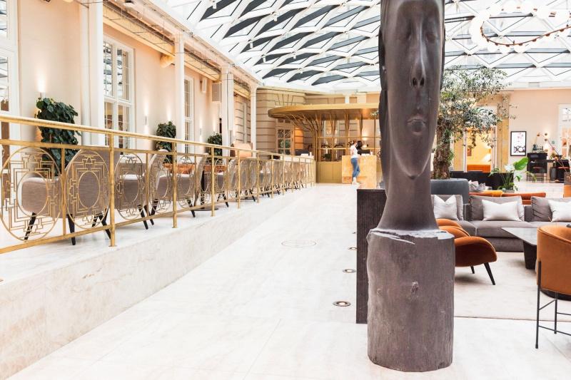 Villa Copenhagen lobby and seating area