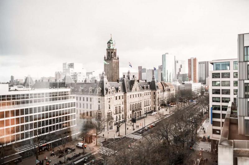 Skyline views from Hilton Rotterdam