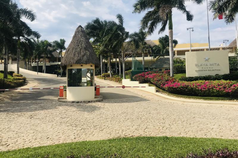 Guard post and entryway of Iberostar Selection Playa Mita.