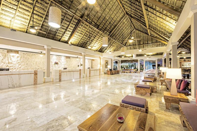 Hotel lobby reception desk