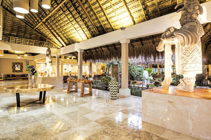 Hotel lobby and courtyard