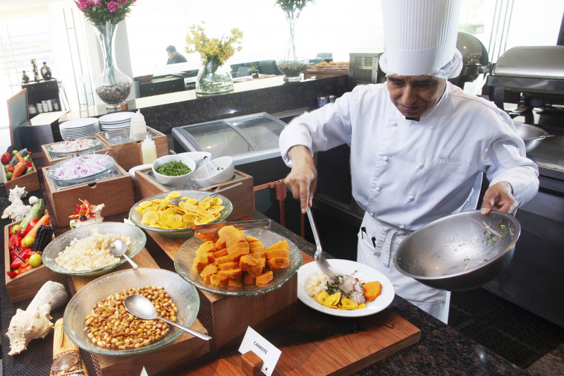 Cook preparing food
