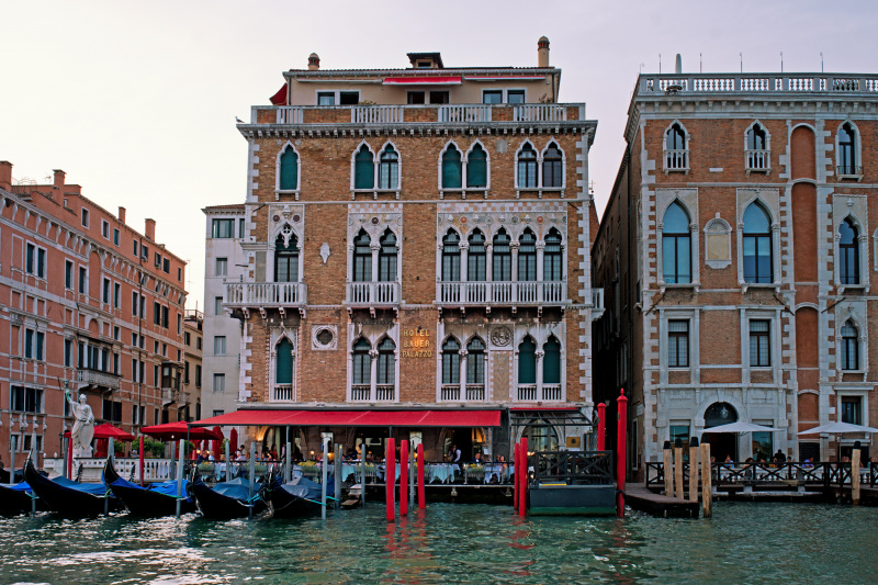Bauer Palazzo front next to the Venice canal