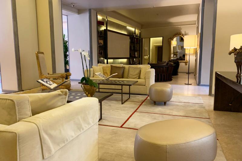 Lobby seating area
