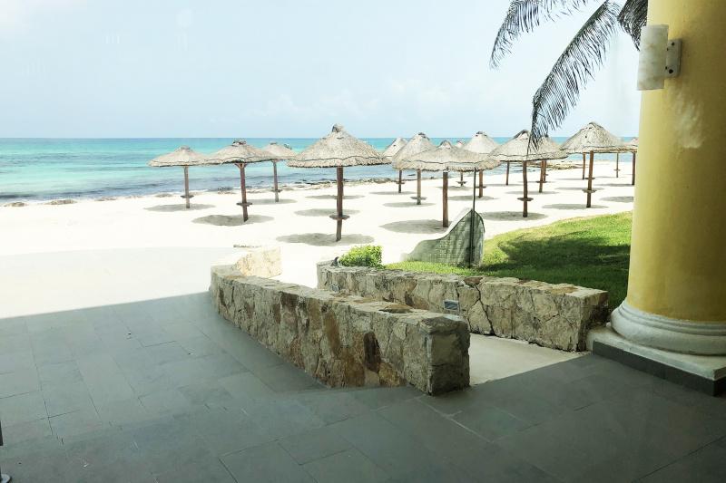 Beach with ramp