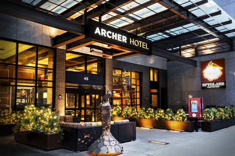 Archer Hotel entrance with no steps