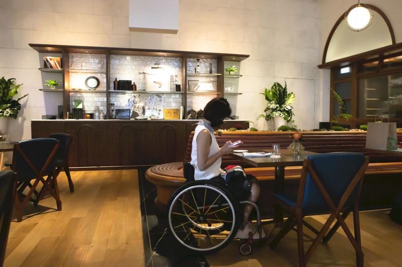 Origin Restaurant and its wooden minimalist decor