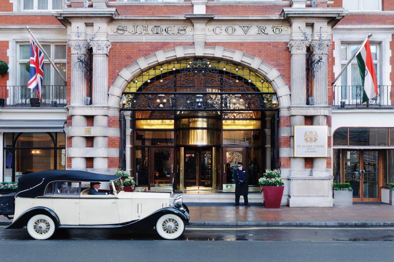 Hotel building entrance