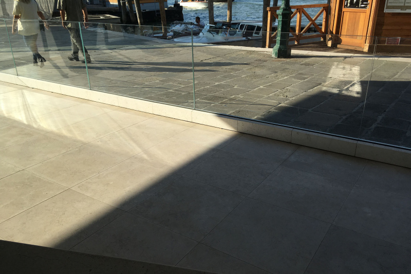Exterior pathway with smooth flooring