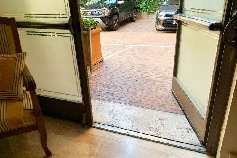 Hotel entrance doorway