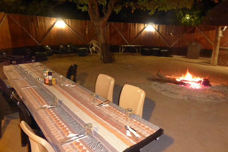 Outdoor meeting area and firepit