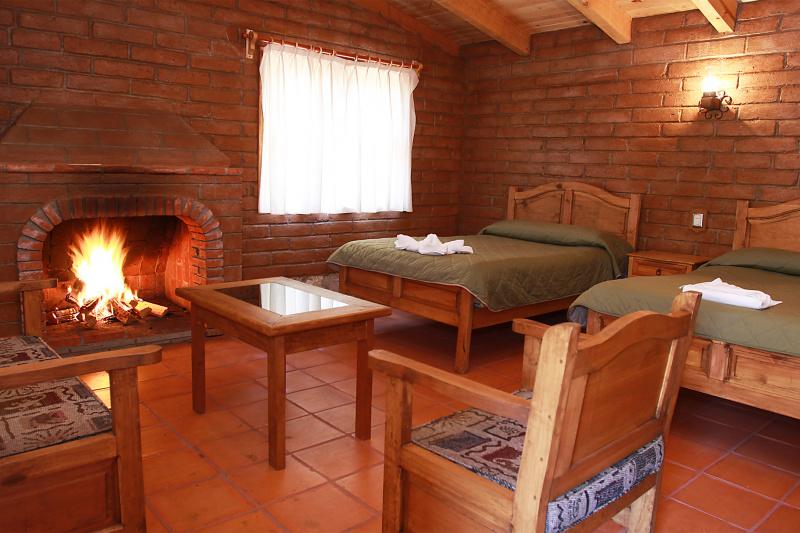 Sierra 1 cabin fireplace