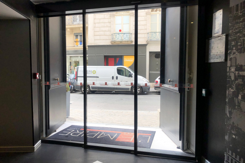 Accessible entrance with sliding doors