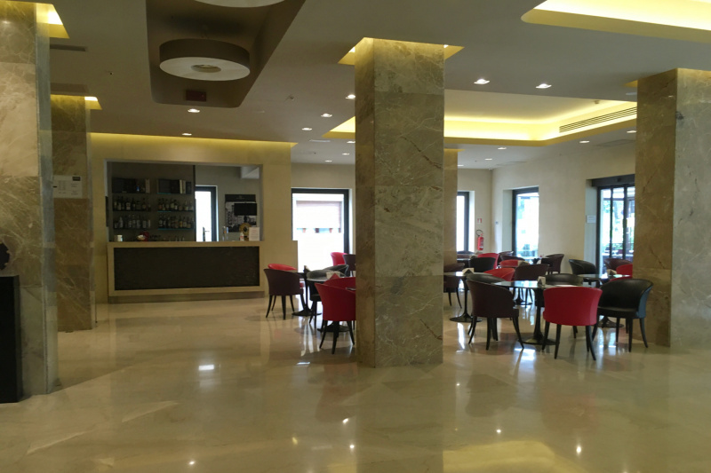 Hotel dining space and bar