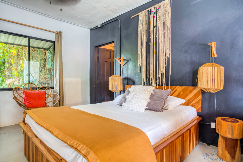 Accessible deluxe room with bohemian style decor