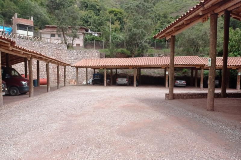 The hotel car park