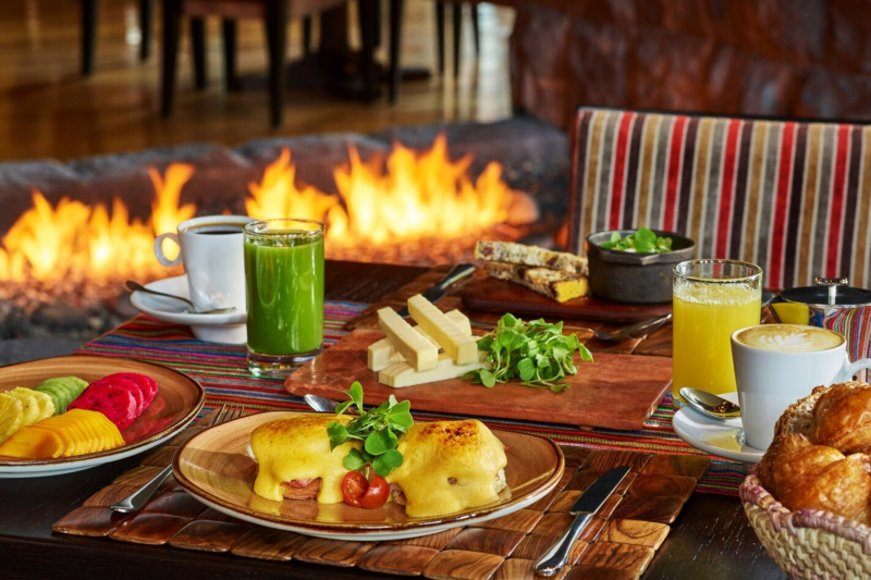 The hotel serves local cuisine with fresh ingredients