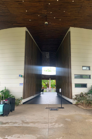 The entrance to the resort