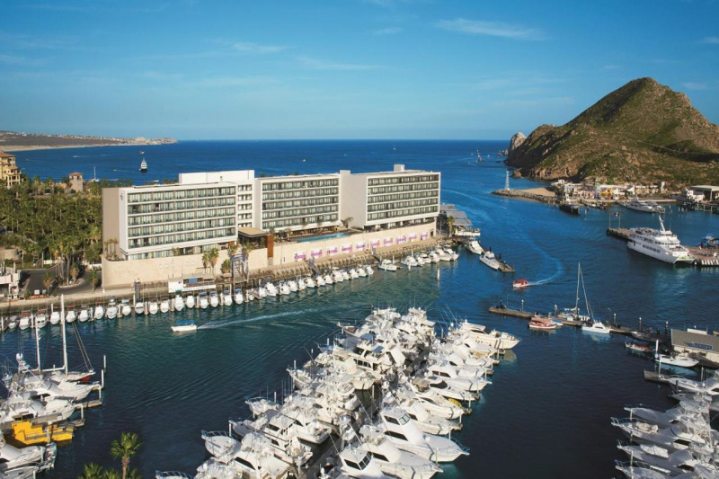 The hotel is set in the marina
