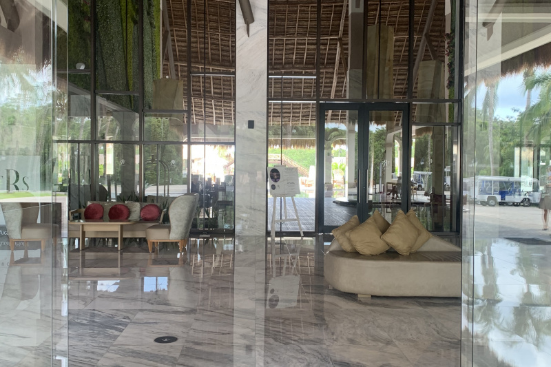 The resort lobby