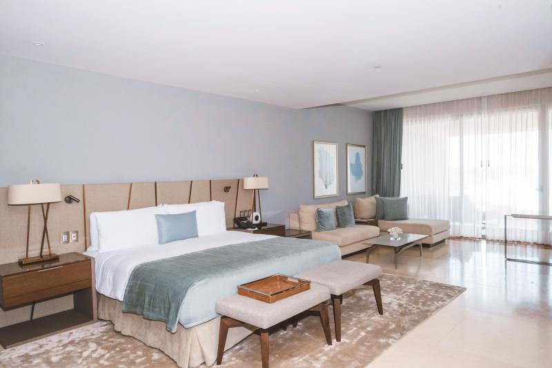 A guest suite at Grand Velas los Cabos