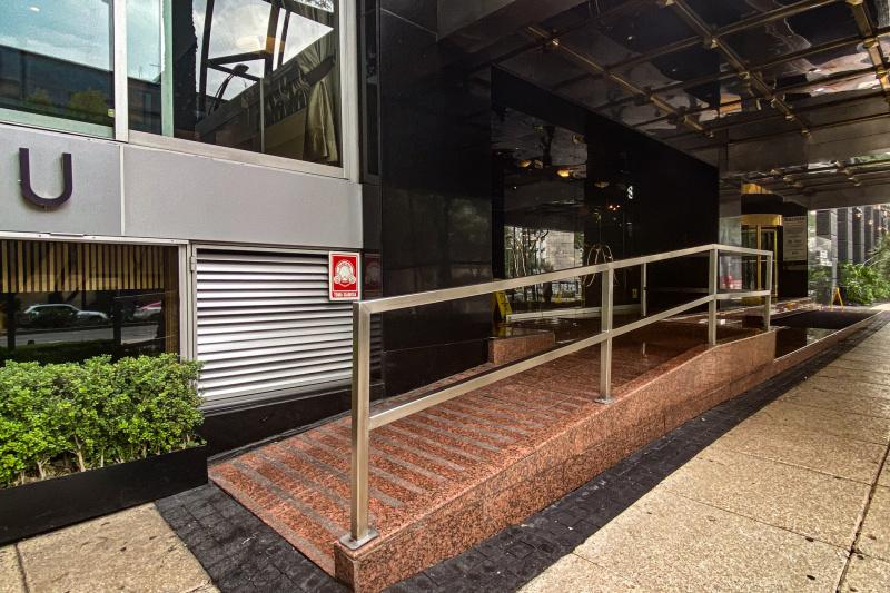 The ramp to the front door