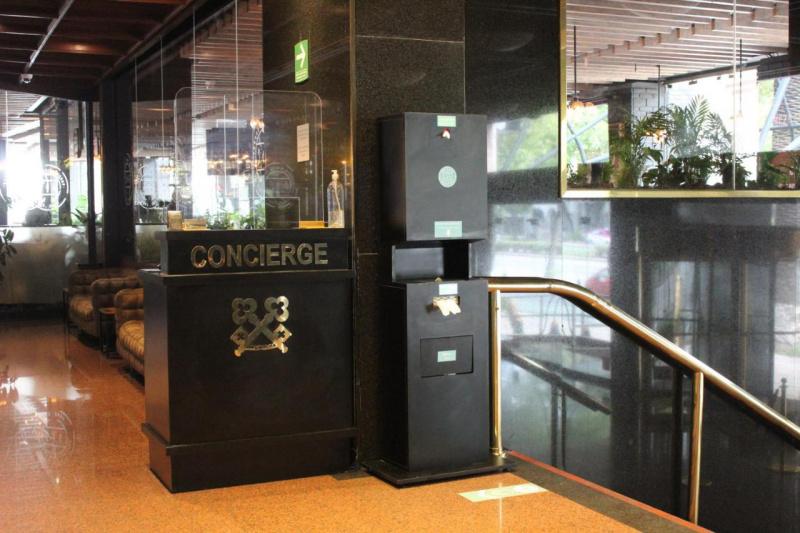 The concierge desk