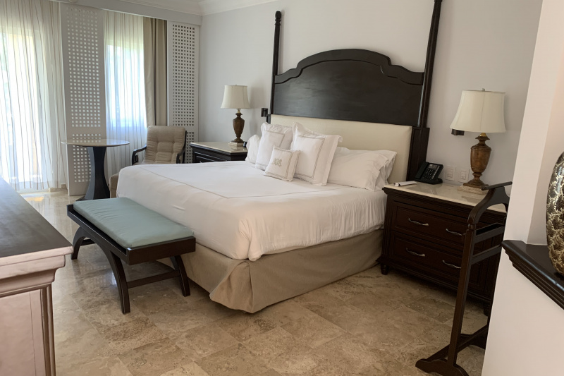 The rooms have a king bed.
