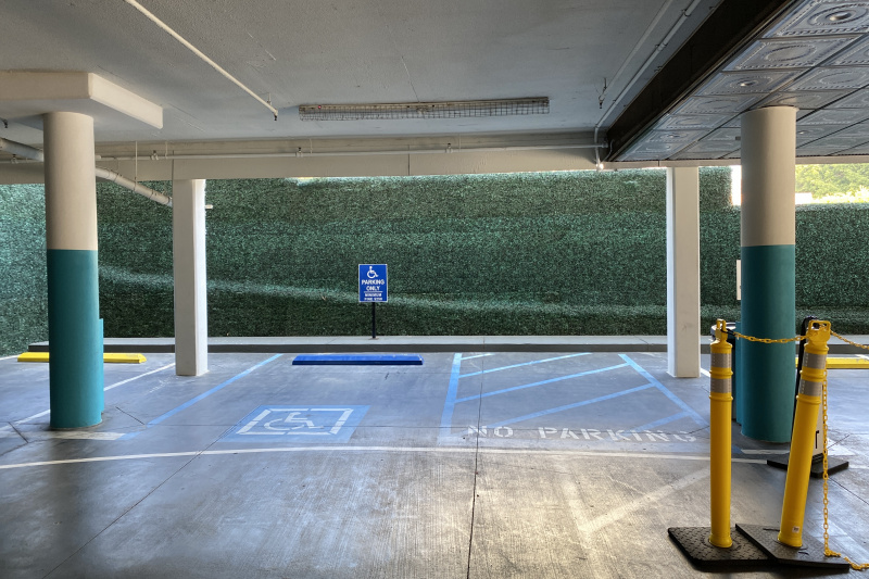 The accessible parking space