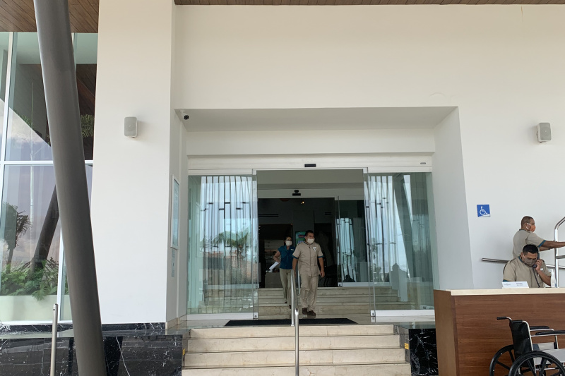 The resort entrance