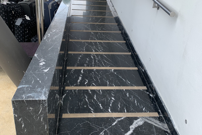 The ramp to the entrance