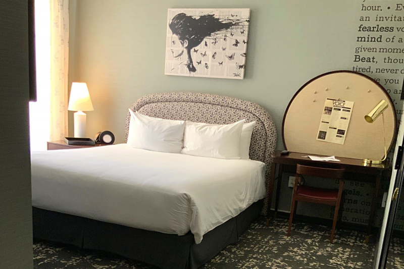The deluxe king room