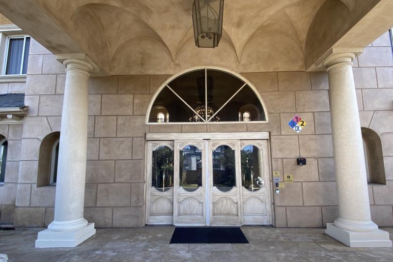 Main entrance door.