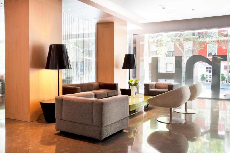 Lobby seating area.