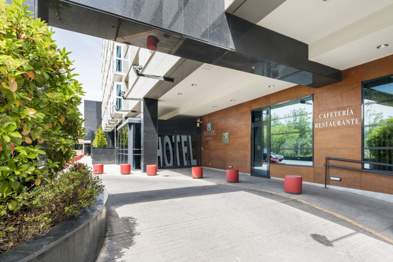The hotel entrance