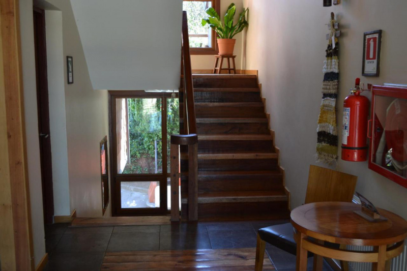 Staircase leading to the upper floors.