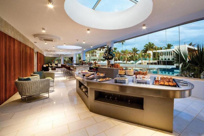 Buffet breakfast area