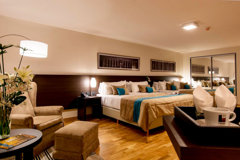 The Concept twin rooms features 2 queen beds.