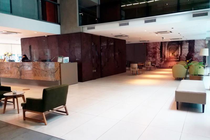 Lobby with smooth floors