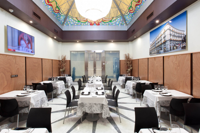 Elegant dining space at the hotel restaurant
