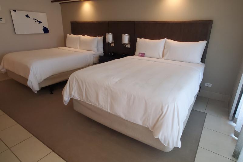 Guestroom with beds.