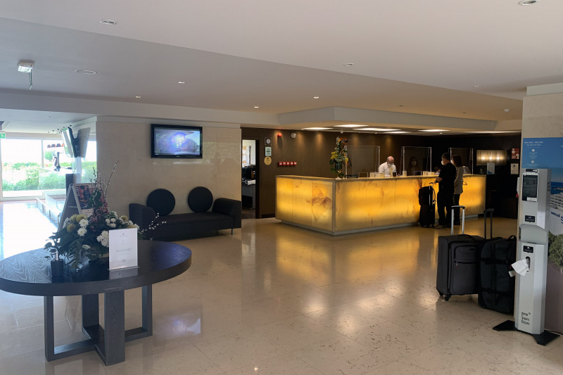 Smooth floored lobby and reception area