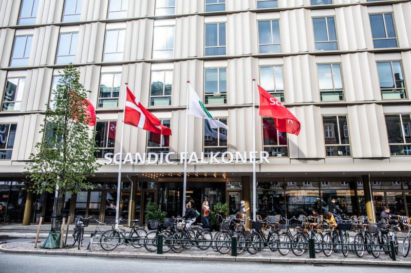 Street view of the Scandic Falkoner