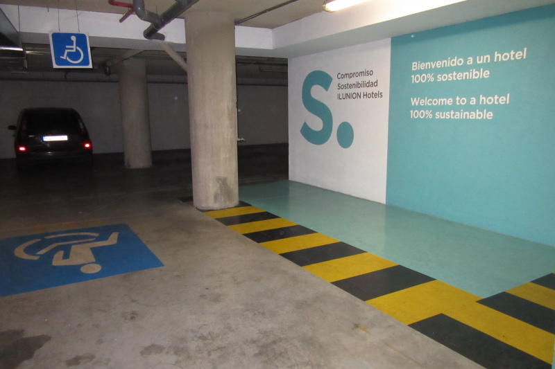 An accessible parking space