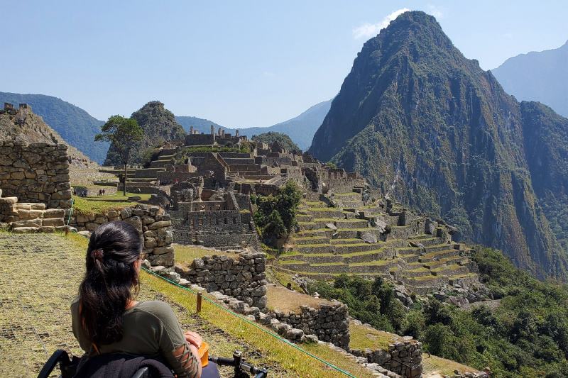 View of the archaeological ruins of Machu Picchu