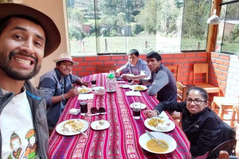 Peruvian typical lunch after machu picchu visit